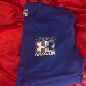 Royal blue under armour t-shirt